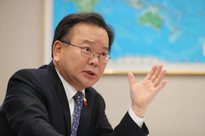 김부겸 행정안전부 장관. 신소영 기자 viator@hani.co.kr