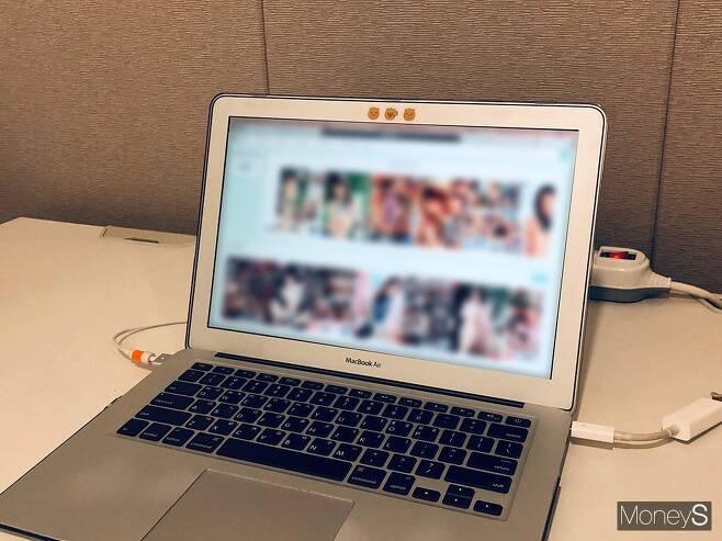 12일 접속이 되지 않던 한 사이트가 최근 차단 해제됐다. /사진=박흥순 기자