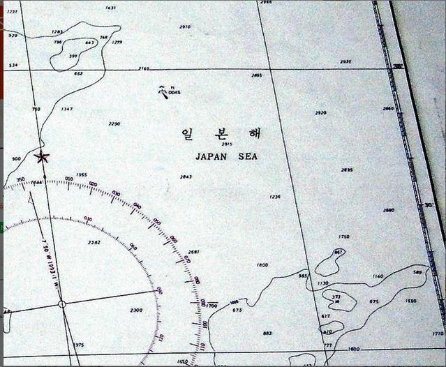 【서울=뉴시스】 일본 요미우리 신문은 18일 한국정부가 1992년 발간한 해도에 '일본어' 표기가 적혀 있는 것을 확인했다고 보도했다. 사진은 요미우리가 증거로 제시한 해도. <사진출처=요미우리> 2019.03.18