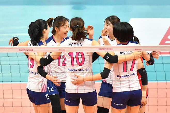 ▲ 한국 여자 배구 올스타 팀 ⓒ KOVO 제공