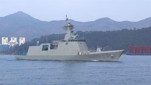 방위사업청이 지난해 2월 해군에 인도한 신형 호위함 대구함. 뉴스1