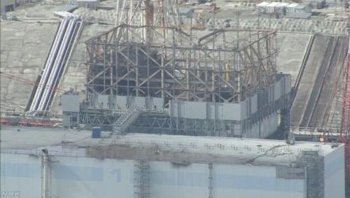 후쿠시마 제1원전 모습(외부). NHK 방송화면 캡처
