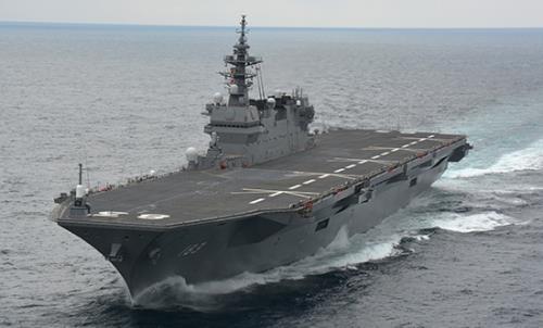 일본의 경항공모함 이즈모호. 일본 방위성 제공