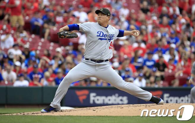 LA 다저스 류현진. © AFP=News1