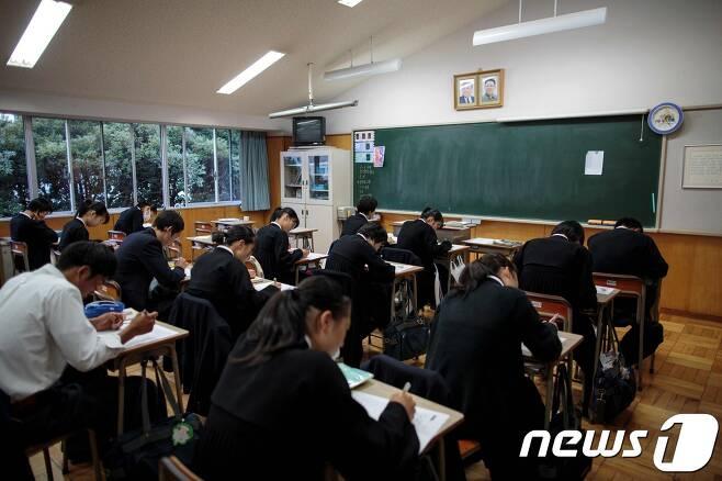 일본 도쿄조선고급학교 교실 <자료사진> © AFP=뉴스1