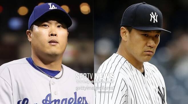 ▲ 아시아를 대표하는 투수인 류현진(LA 다저스)과 다나카 마사히로(뉴욕 양키스)는 올 시즌 결정적인 순간의 피홈런에서 대조를 보이고 있다