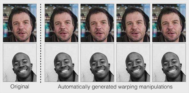 원본 이미지(왼쪽)와 자동 도구로 교묘하게 변형시킨 얼굴 이미지 (이미지=어도비)