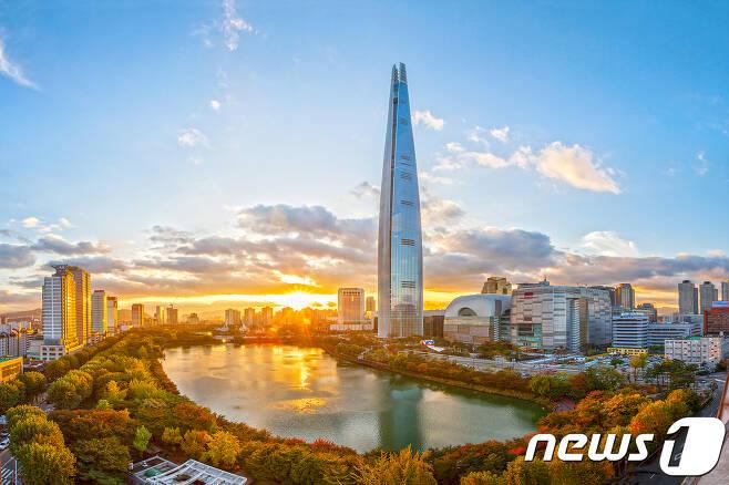 서울 잠실 롯데월드타워 전경© News1