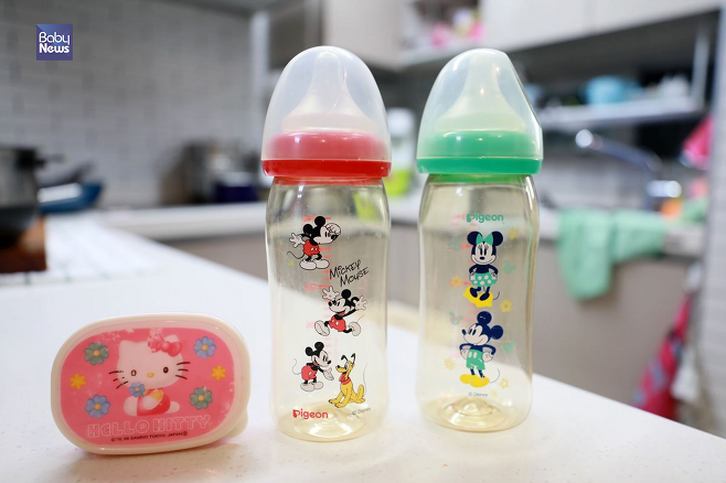 가정집에서도 젖병이나 아이의 도시락통과 같은 제품들에서 일본 제품들을 손쉽게 찾아볼 수 있었다. 김재호 기자 ⓒ베이비뉴스