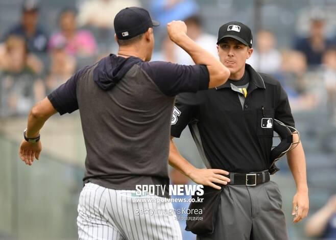 ▲ 애런 분 뉴욕 양키스 감독은 퇴장 당했다.