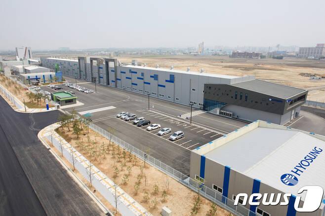 효성첨단소재, 전주 탄소섬유 공장전경 © 뉴스1