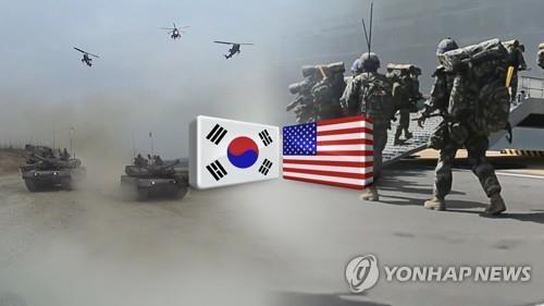 한미연합훈련(CG) [연합뉴스TV 제공]