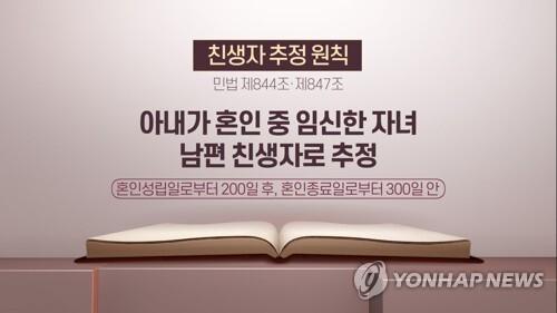 친생자 추정 원칙 (CG) [연합뉴스TV 제공]