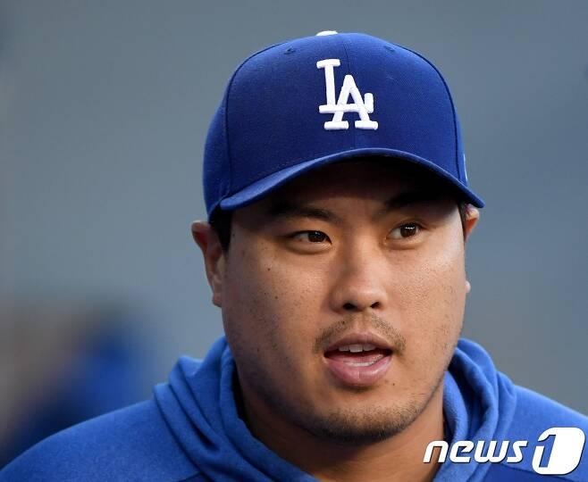 LA 다저스에서 FA 자격을 얻게 되는 류현진의 거취에 관심이 모아지고 있다. © AFP=뉴스1
