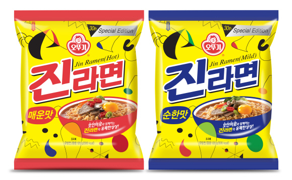 진라면 봉지면 30주년(2018년) 스페셜에디션.(사진=오뚜기)