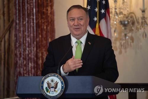 마이크 폼페이오 미국 국무장관 (Photo by Nicholas Kamm / AFP)