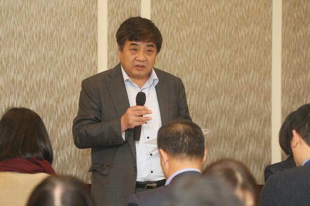 한상혁 방송통신위원장이 6일 정부과천청사에서 열린 기자간담회에서 발언하고 있다. 방통위 제공