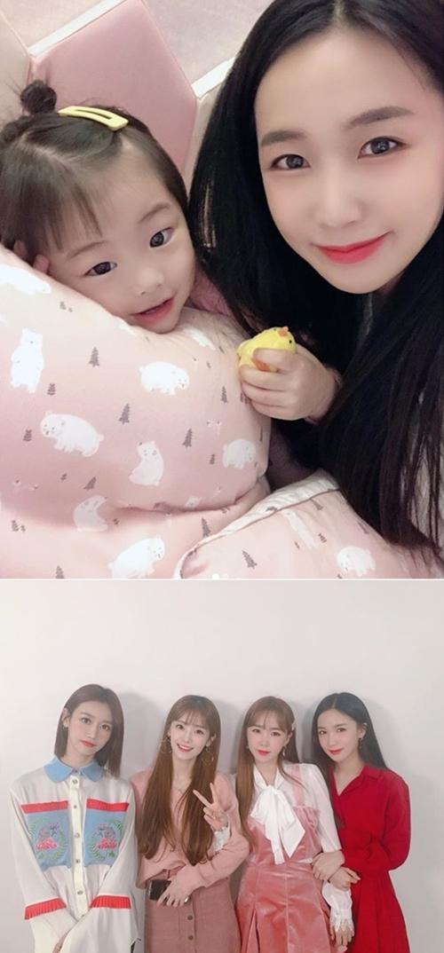 크레용팝 금미, 초아, 웨이, 소율 사진=초아 SNS 캡쳐