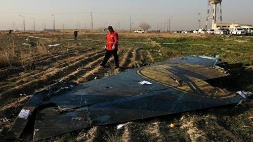 8일 테헤란 부근에서 격추된 우크라이나 여객기의 파편 [AP=연합뉴스]