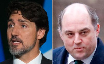 트뤼도 캐나다 총리(왼쪽), 월리스 영국 국방