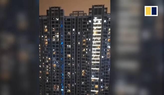 우한의 아파트 - SCMP 갈무리