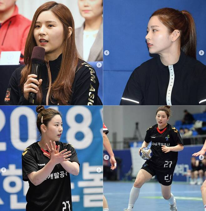 박하얀 - 핸드볼TV 인스타그램