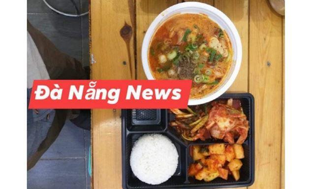 25일 다낭시정부가 시내 한인식당에서 배달시켜 한국인 격리자들에게 제공한 저녁식사. 다낭뉴스 캡처