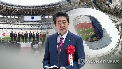 아베 신조 일본 총리 '아베 올림픽' 야심 (CG) [연합뉴스TV 제공]