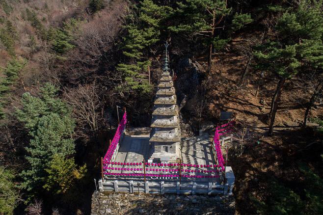 정선정암사수마노탑 정면원경.(문화재청 제공)© 뉴스1