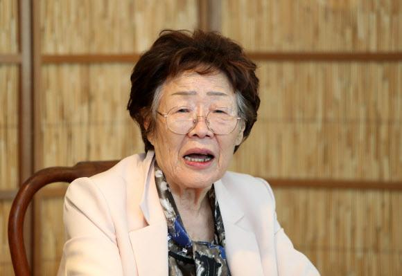 - 정대협의 기부금 운영 등을 비판한 위안부 피해자 이용수 할머니.연합뉴스