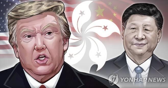 코로나19 책임론과 홍콩 국가보안법을 계기로 한층 악화한 미국과 중국의 관계(PG)[장현경 제작] 일러스트