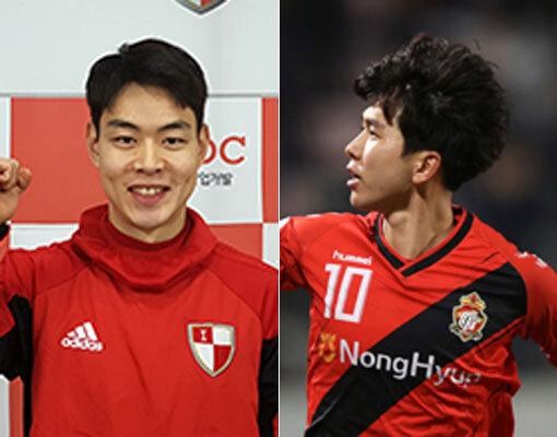 한지호(왼쪽) - 김승준. 사진ㅣ스포츠동아DB · 한국프로축구연맹