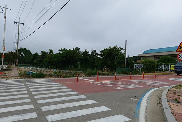 ▲천진초등학교 앞 ⓒ프레시안(조성은)