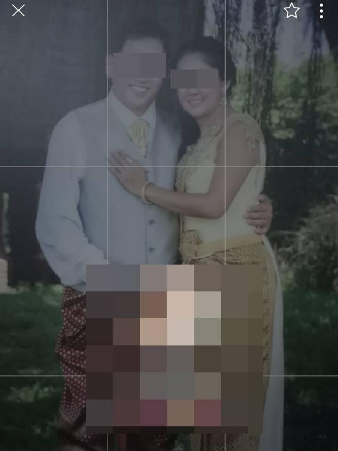 공주라고 속인 태국인 아내와 함께 찍은 사진. 피해자들에게 보여줬다. [주태국 한국대사관 제공. 재판매 및 DB 금지]