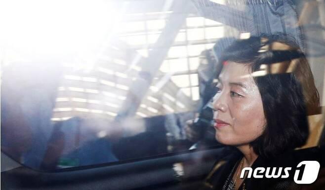 최선희 북한 외무성 제1부상. © 로이터=뉴스1