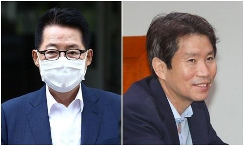 박지원 국정원장 후보자(왼쪽)와 이인영 통일부 장관 후보자. 연합뉴스