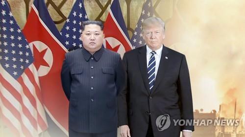 김정은 북한 국무위원장과 도널드 트럼프 미 대통령(CG). [연합뉴스TV 제공]