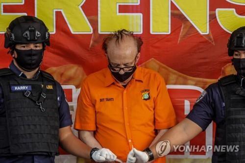 인도네시아 경찰에 체포된 프랑스인 프랑수아 카밀 아벨로(65) [AFP=연합뉴스]
