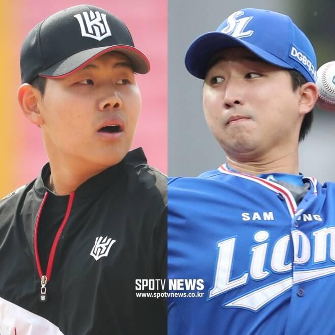 ▲ 소형준(왼쪽)-최채흥 ⓒ 한희재, 곽혜미 기자