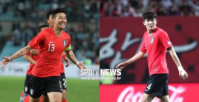 ▲ 손흥민과 김민재(왼쪽부터) ⓒ 한희재 기자, 곽혜미 기자