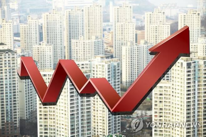 전셋값 아파트 가격 상승(일러스트) [연합뉴스 자료사진]