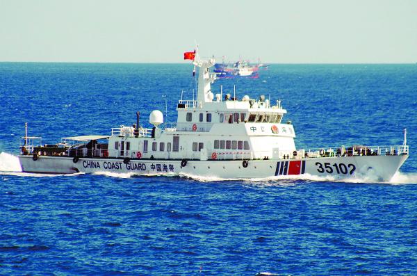 중·일 영유권 분쟁 지역인 센카쿠열도에 나타난 중국 해경선 모습. AP연합뉴스