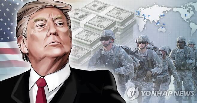 트럼프, 해외주둔 미군 감축 (PG) [장현경, 정연주 제작] 일러스트