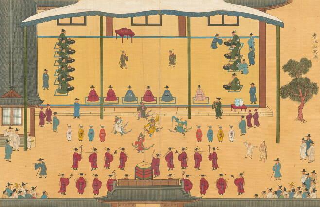 국보 제325호 '기사계첩', 조선 1719~1720년, 국립중앙박물관 소장.(국립중앙박물관 제공)© 뉴스1