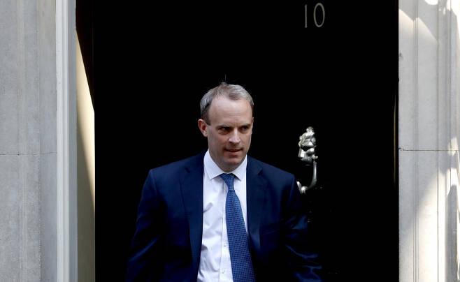 도미니크 라브 영국 외무장관의 모습. [AP]
