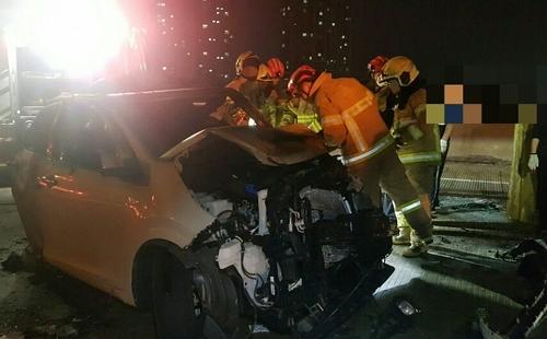 제3경인고속도로서 2차 사고로 차량 5중 추돌 [인천 공단소방서 제공. 재판매 및 DB 금지]