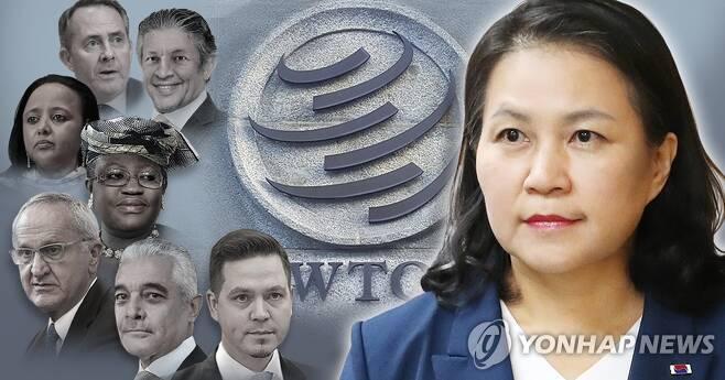 세계무역기구(WTO) 사무총장 후보자 8인 (PG) [김민아 제작] 사진합성