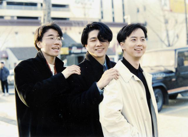 1990년대 활동 당시 015B 정석원, 장호일, 조형곤. 한국일보 자료사진