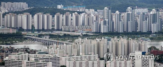 서울 용산구·서초구 일대 아파트 단지 [연합뉴스 자료사진]