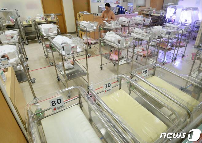 서울시내 한 병원 신생아실이 비어있는 모습. (뉴스1 DB) 2019.9.25/뉴스1